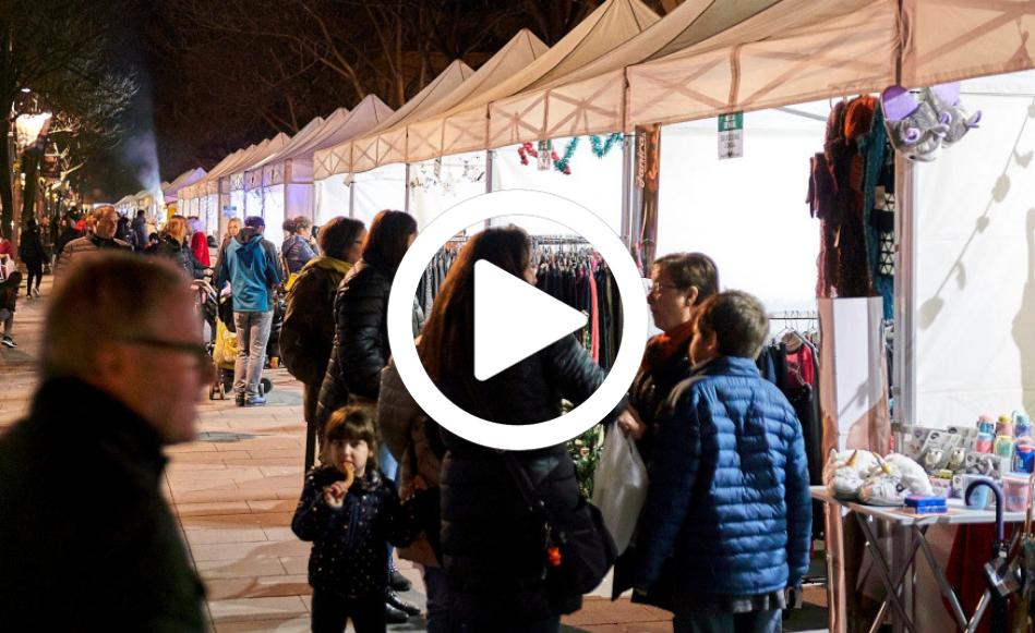 El Mercat de Nadal omple el passeig Ciutat de Girona durant tot el dia
