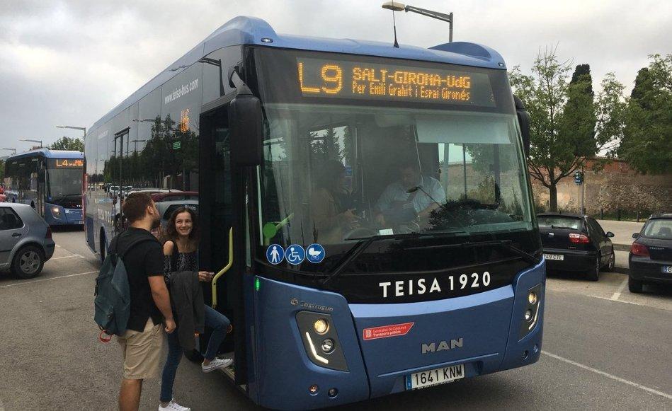 La nova línia de bus L9, que uneix Salt amb la UdG, rep una nota de 8,9 dels usuaris