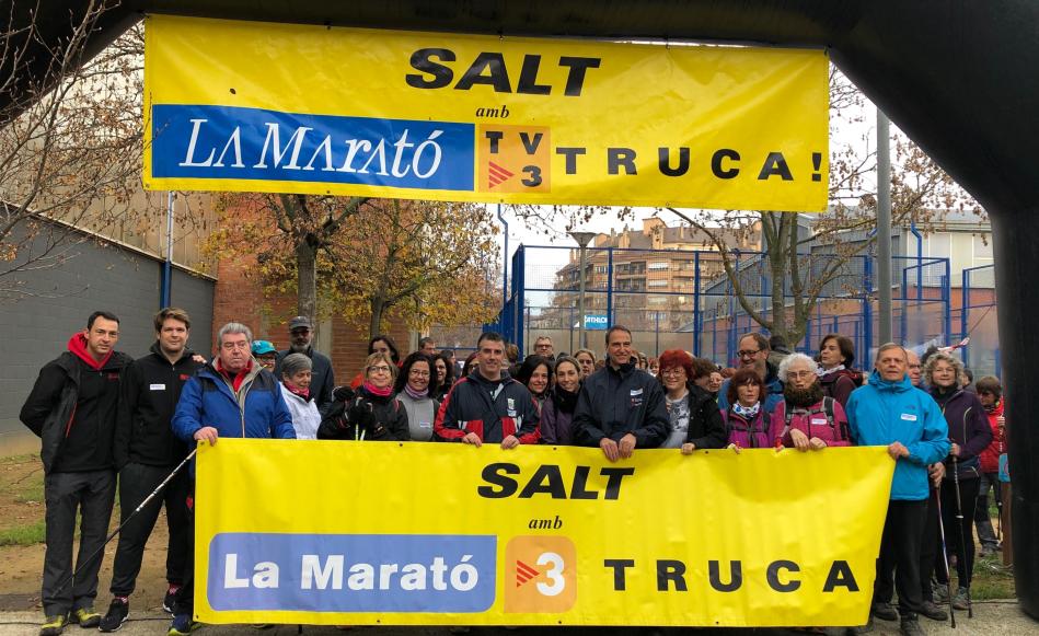 Unes 2.000 persones participen de les activitats de La Marató