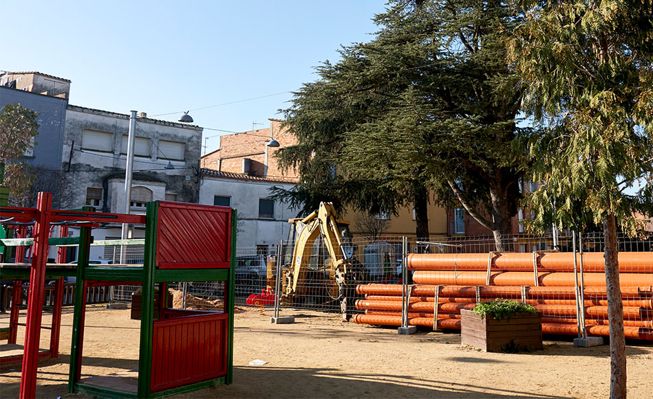 Comencen les obres de millora dels carrers Pau Casals i Àngel Guimerà