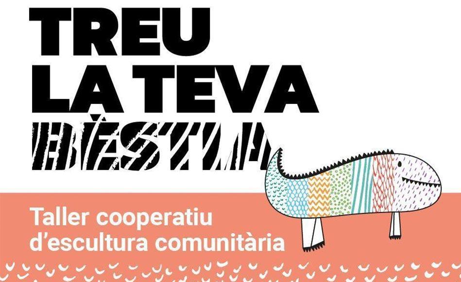 """L'institut Salvador Espriu participa en el taller cooperatiu d'escultura """"Treu la teva bèstia"""""""