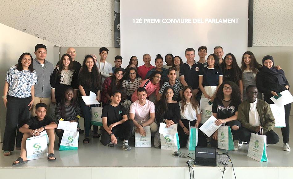 L'Institut Vallvera de Salt celebra el Premi Conviure que atorga el Parlament de Catalunya
