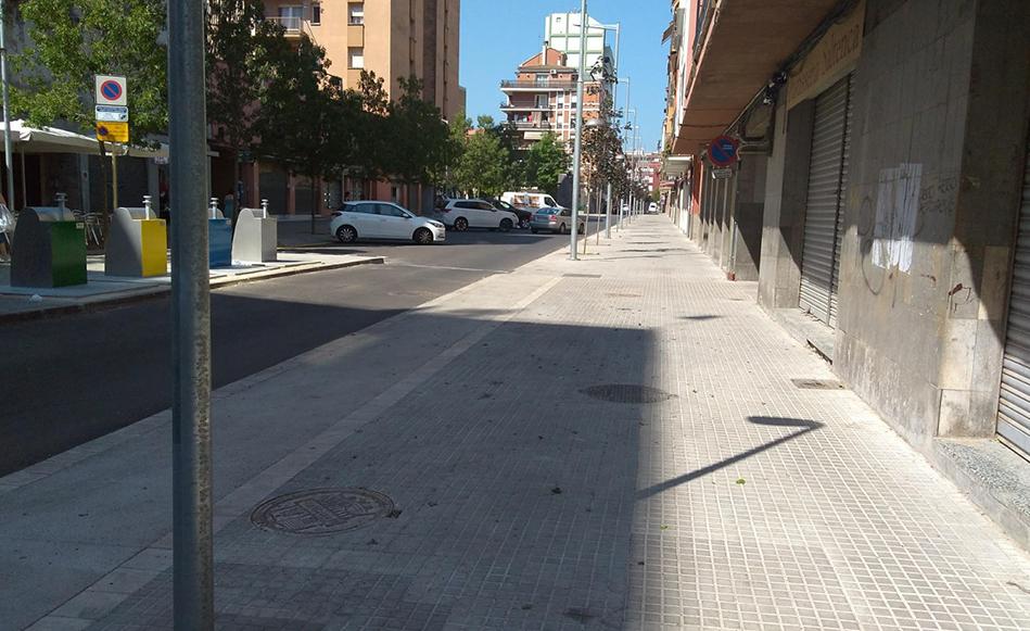 L'Ajuntament finalitza les obres de millora del carrer Àngel Guimerà