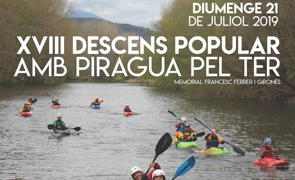 El diumenge 21 de juliol es farà el XVIII Descens Popular amb Piragua pel Ter