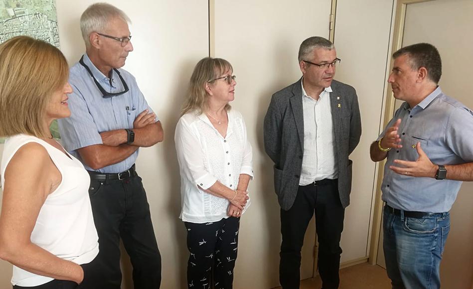 L'Ajuntament de Salt i la conselleria de Treball, Afers Socials i Famílies planifiquen millores en aspectes formatius, comunicatius i laborals
