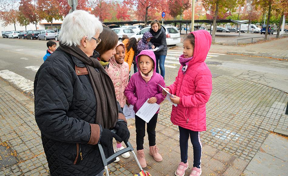 Salt consolida la proposta dels itineraris escolars segurs posant en marxa el segon tram per unir nous centres