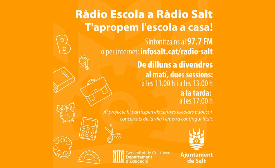 Neix 'Ràdio Escola' a Ràdio Salt, un nou canal de comunicació dels centres escolars amb l'alumnat i les seves famílies