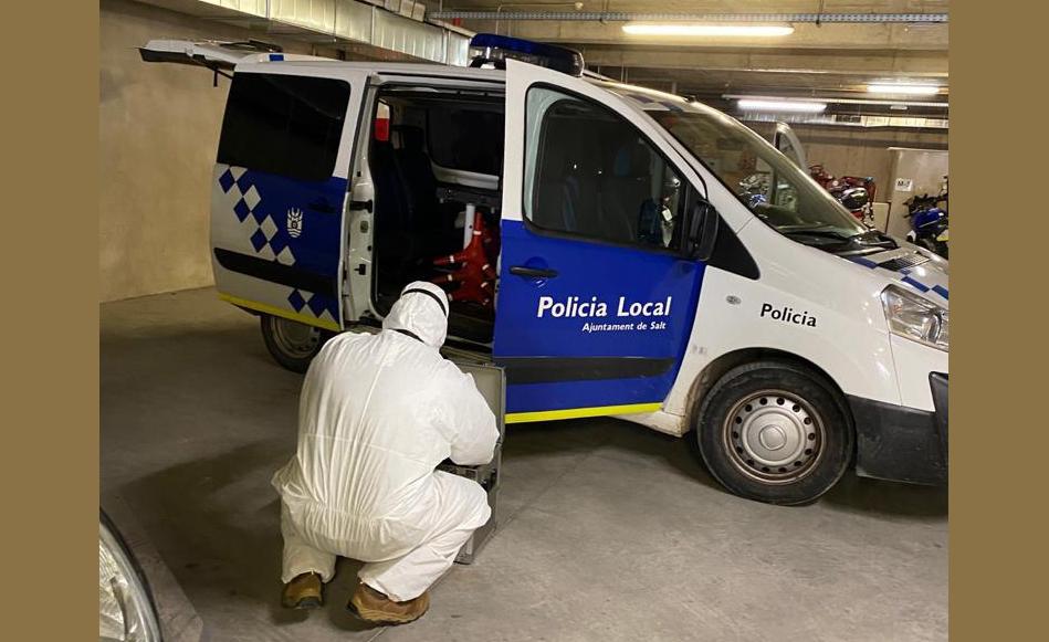 La Policia Local de Salt reorganitza els grups de treball després de la detecció de dotze casos positius de Covid_19