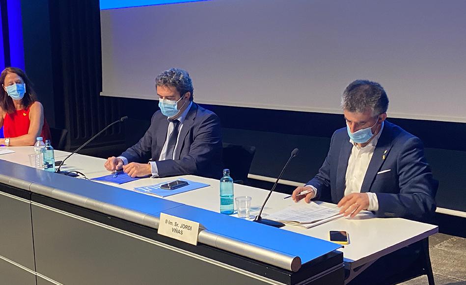 """Jordi Viñas: """"El conveni per situar el nou Hospital Josep Trueta i el Campus de Salut al sector Sud de Salt, i al seu voltant, és històric"""""""