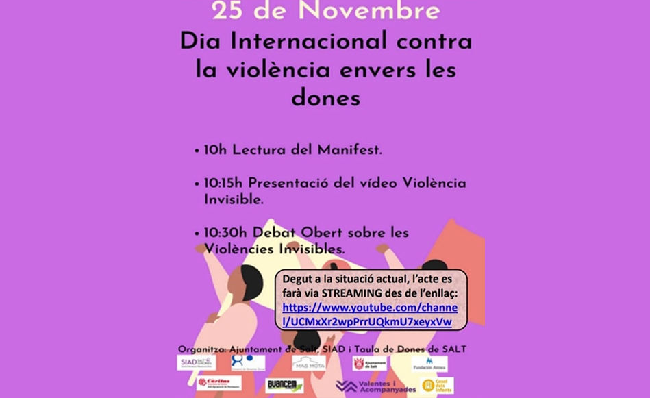 Conscienciar sobre la violència invisible envers la dona