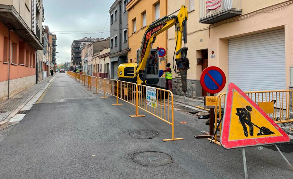 L'Ajuntament de Salt comença les obres de reurbanització del carrer Doctor Castany