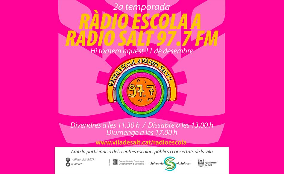 Ràdio Escola a Ràdio Salt inicia la segona temporada aquest divendres 11 de desembre