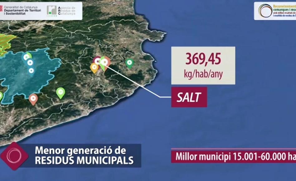 Salt rep un reconeixement de l'Agència de Residus de Catalunya