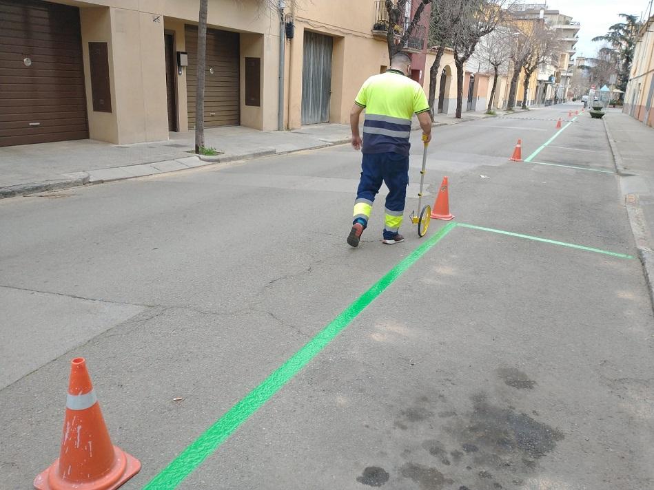 L'Ajuntament de Salt canvia la tipologia de diverses bosses d'aparcament del municipi