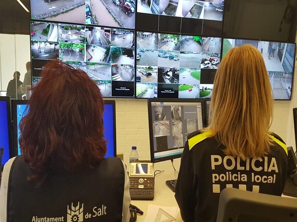 Salt instal·la cinc noves càmeres de videovigilància a l'espai públic