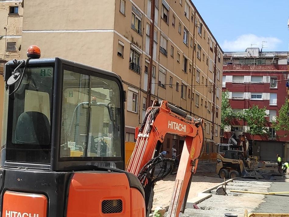 Aposta per donar més protagonisme als vianants en les obres de reurbanització del carrer Àngel Guimerà